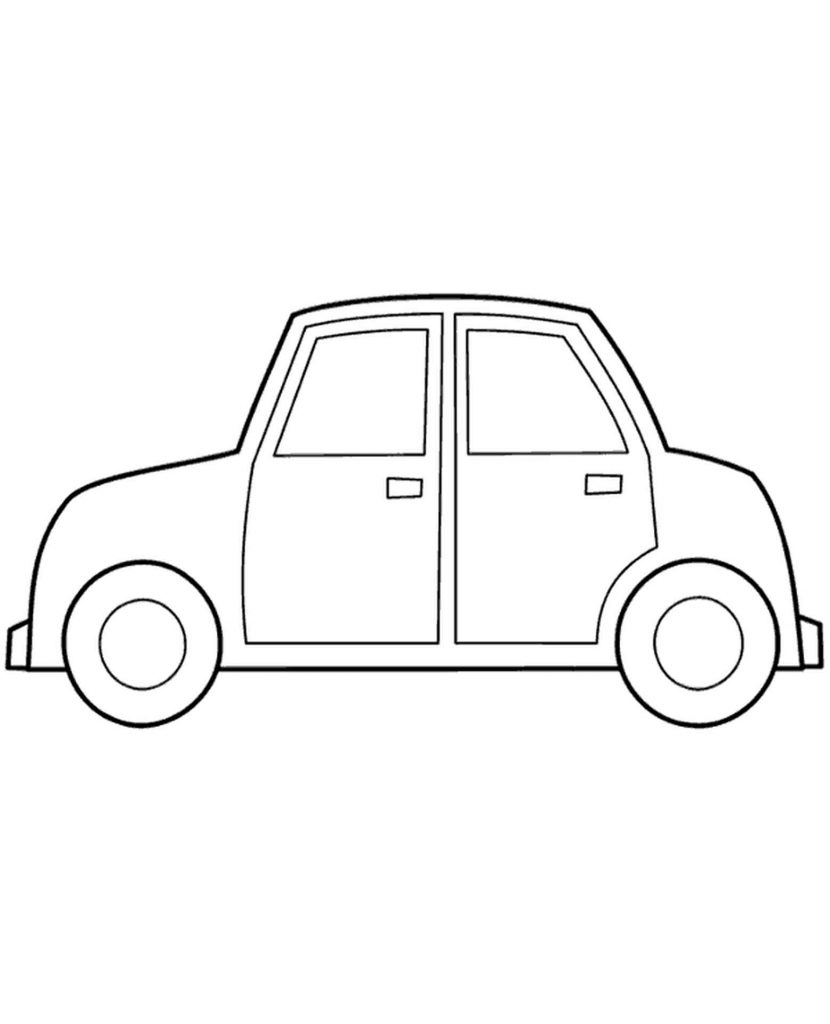 Simple Coloring Page Of Car