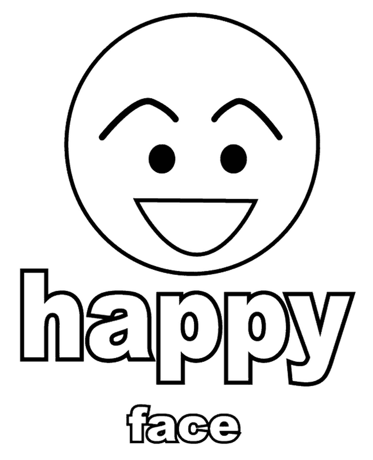 Simple Happy Face Coloring Page