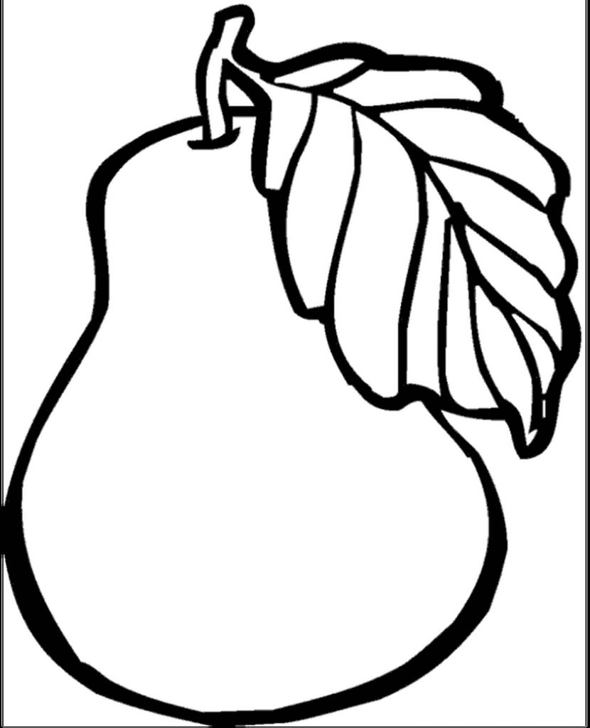 Simple To Color Peach Coloring Page