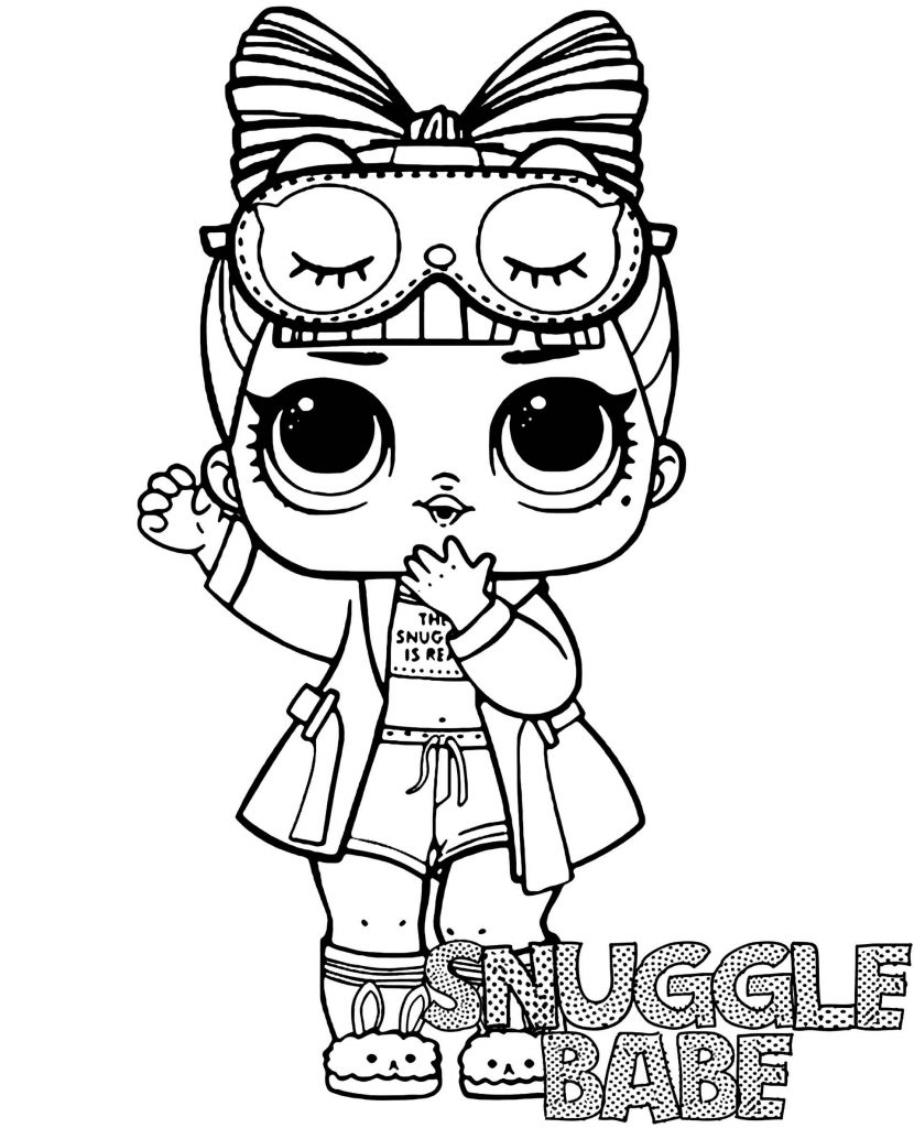 Snuggle Babe Doll From L.O.L. Suprise Coloring Page