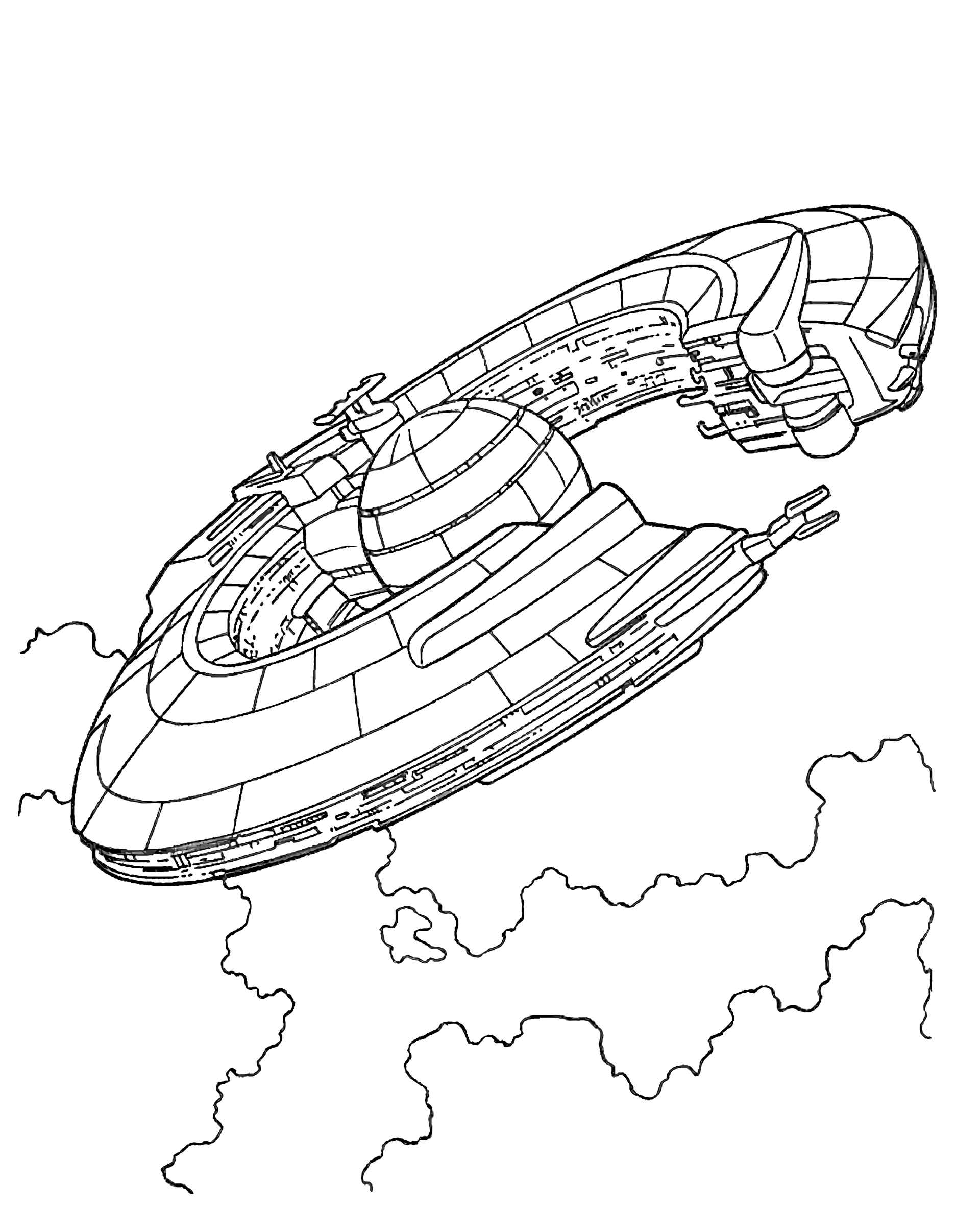 Spaceship From Star Wars Coloring Page