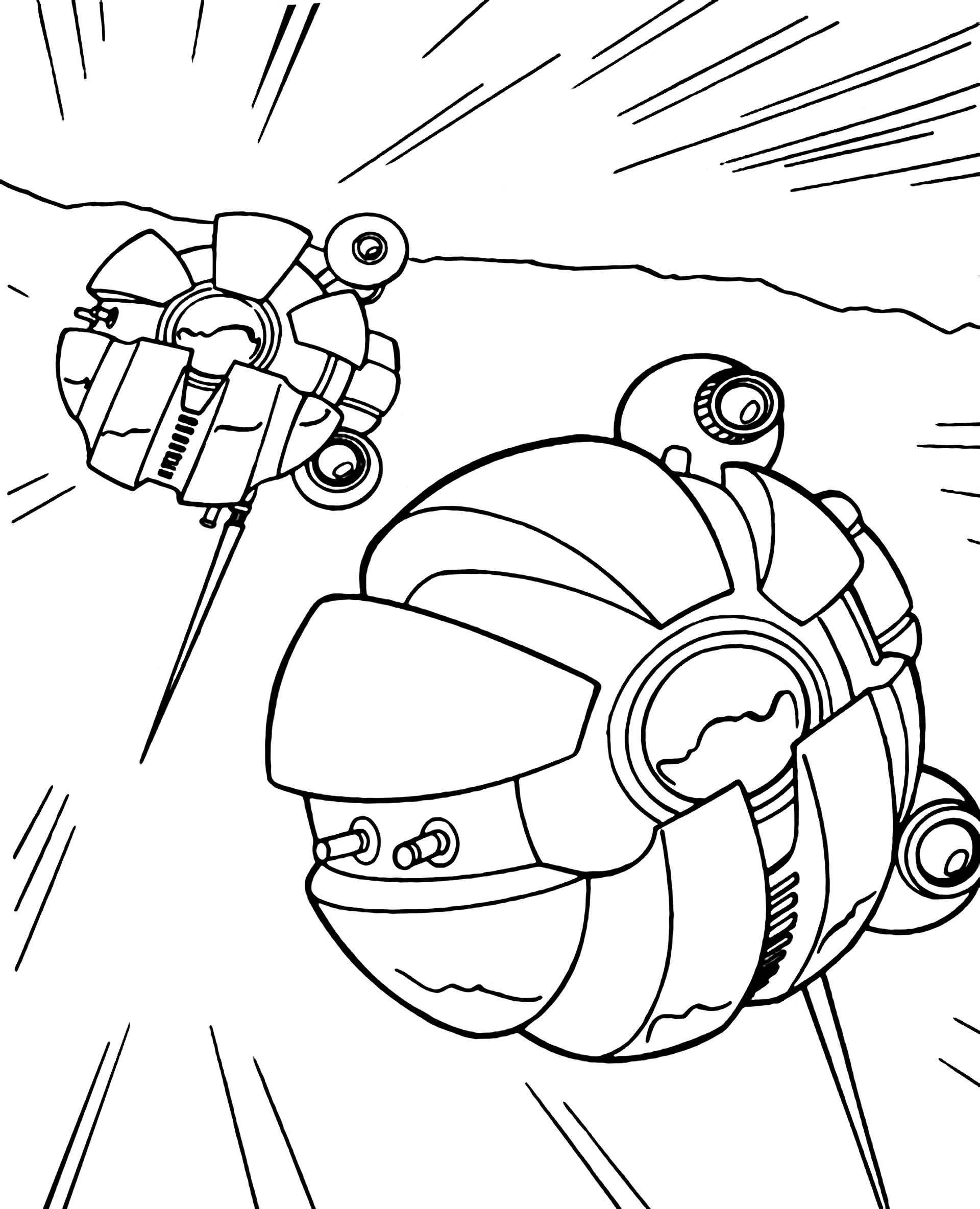 Spaceships From Star Wars Coloring Page