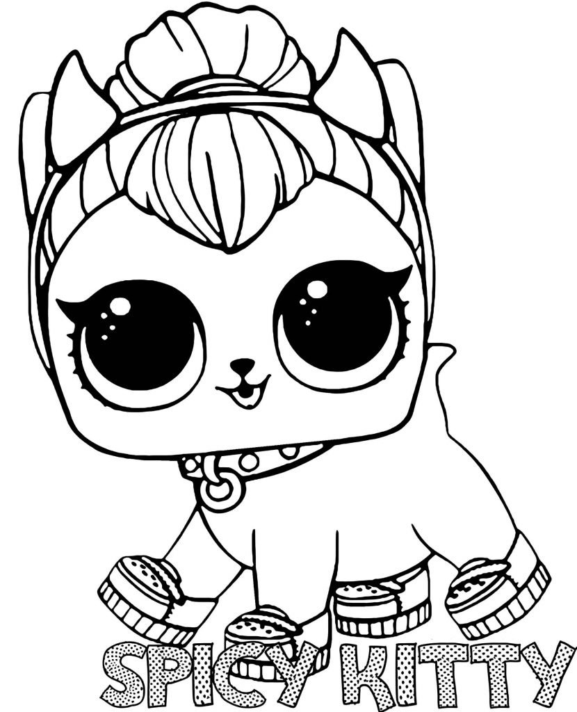 Spicy Kitty From L.O.L. Suprise Coloring Page