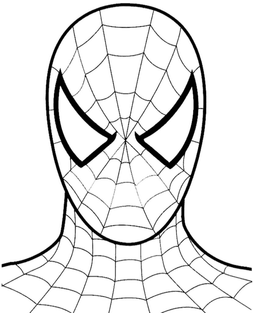 Spider-Man Mask Coloring Page