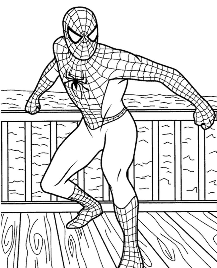 Spider-Man Preparing To Attack Coloring Page