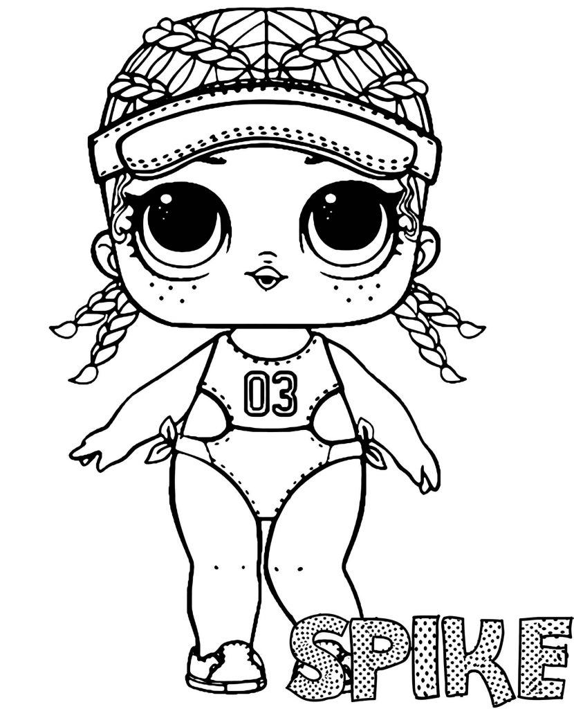 Spike Doll From L.O.L. Suprise Coloring Page