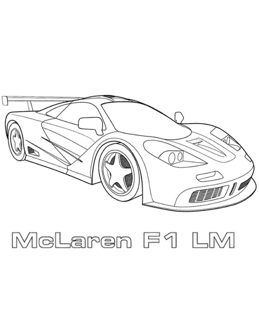 Sports Car Coloring Page To Print