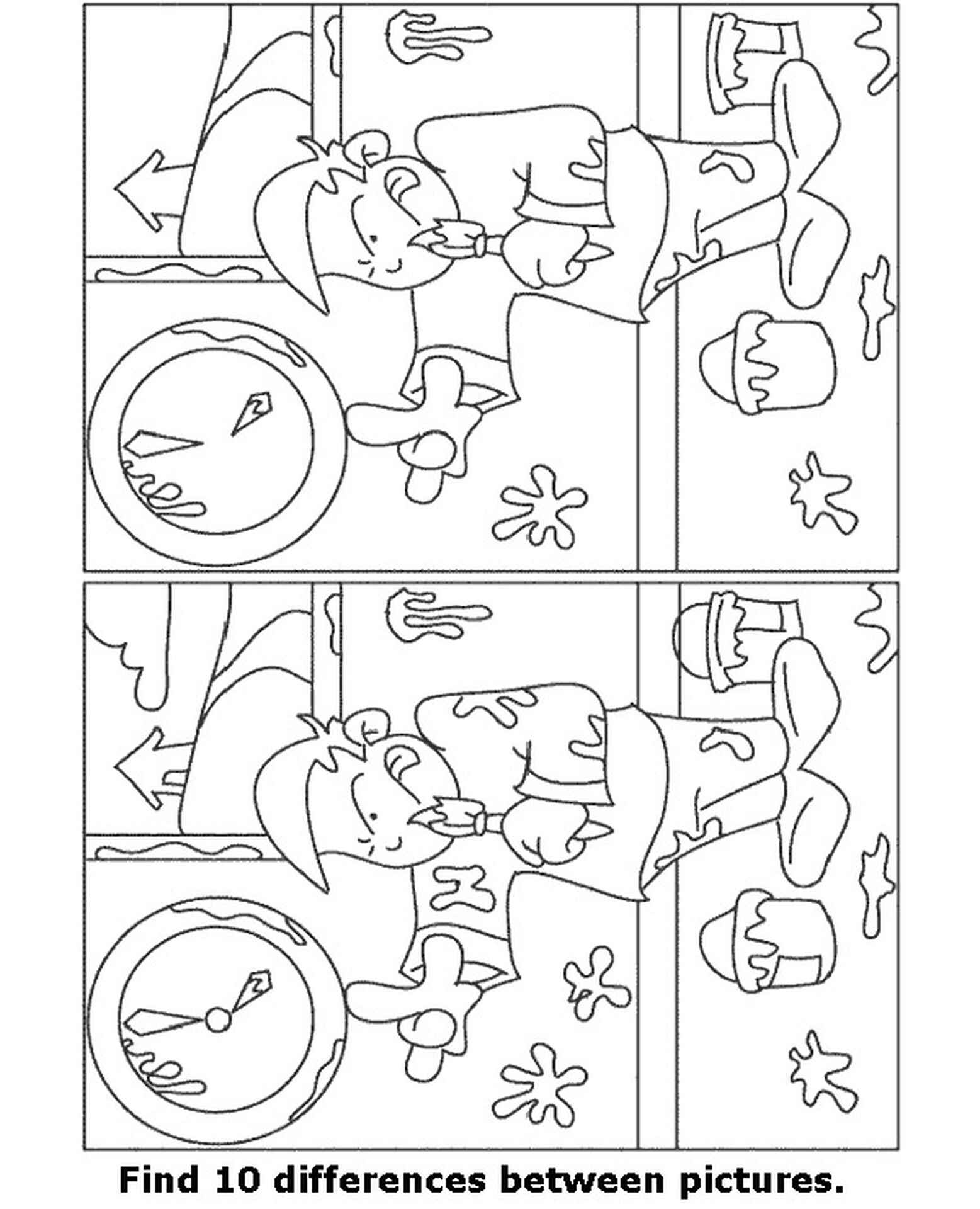 Spot The Difference Painter Coloring Page