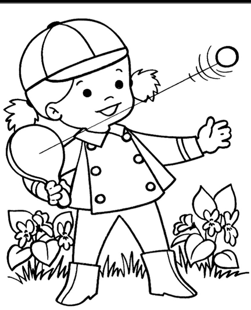 Spring Coloring Page For Little Children