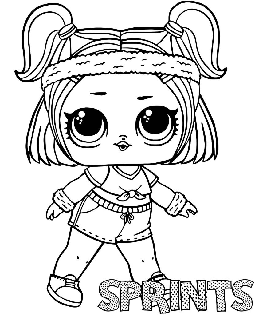 Sprints Doll From L.O.L. Suprise Coloring Pages