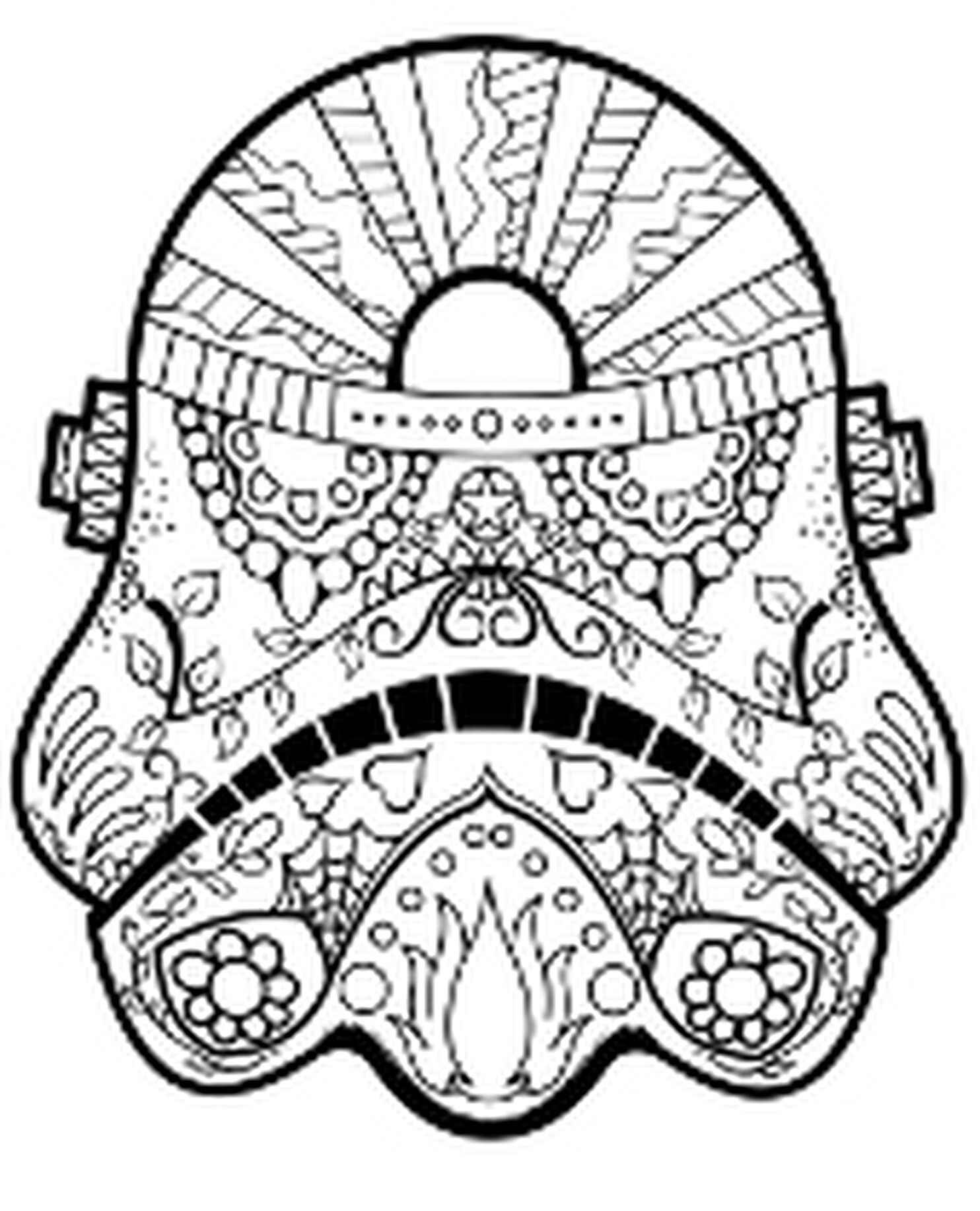 Star Wars Mandala Helmet Adult Coloring Page