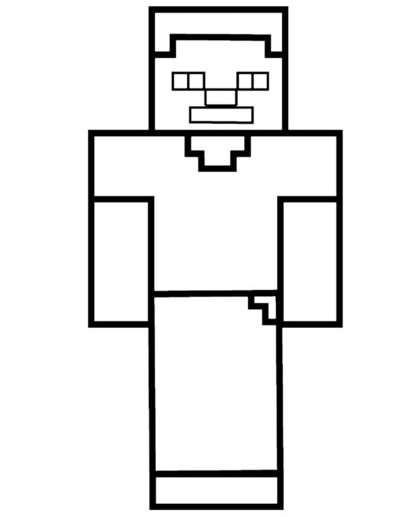 Steve Skin For Minecraft Coloring Pages