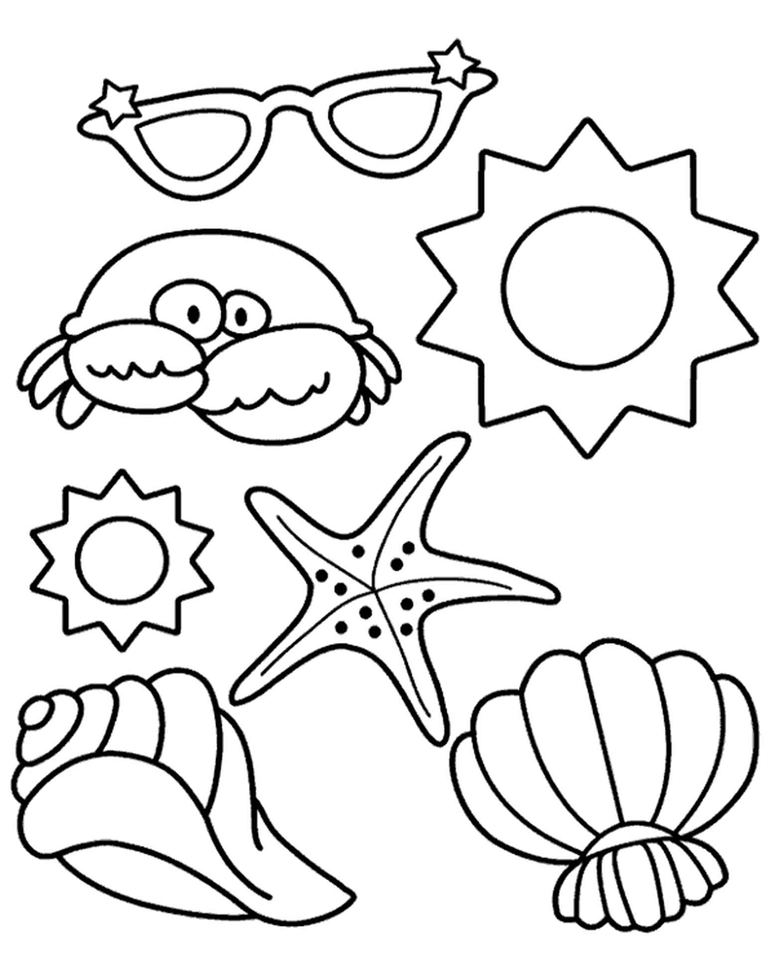Summer Coloring Picture For Preschoolers
