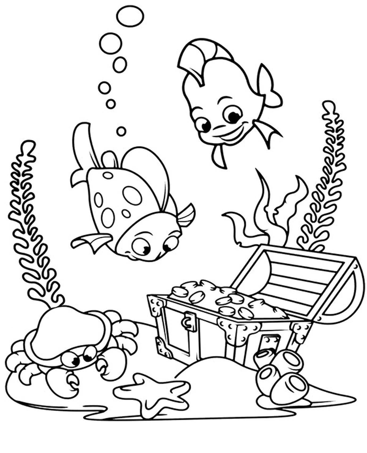 Sunken Treasure Coloring Picture