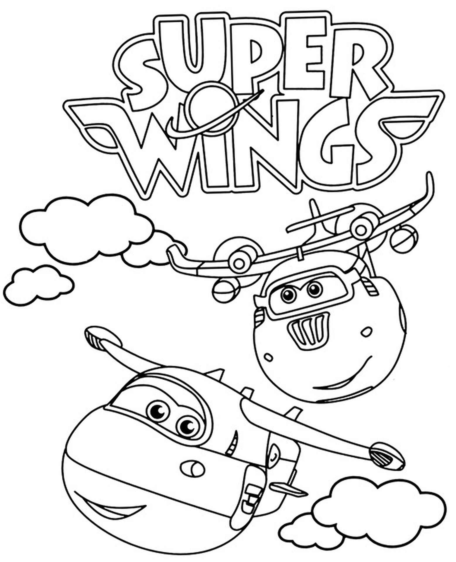 Super Wings Coloring Page