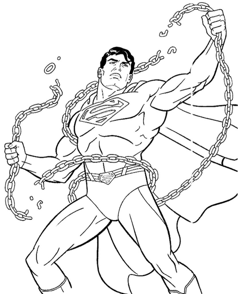 Superman Breaking Chains Coloring Book