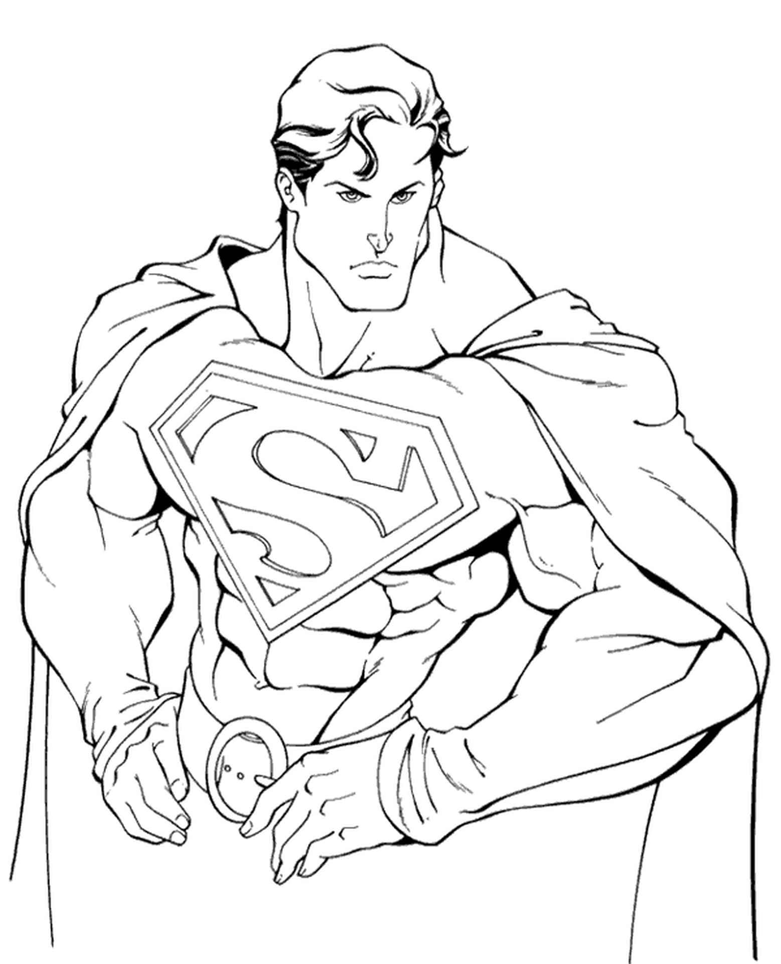 Superman Classic Coloring Picture