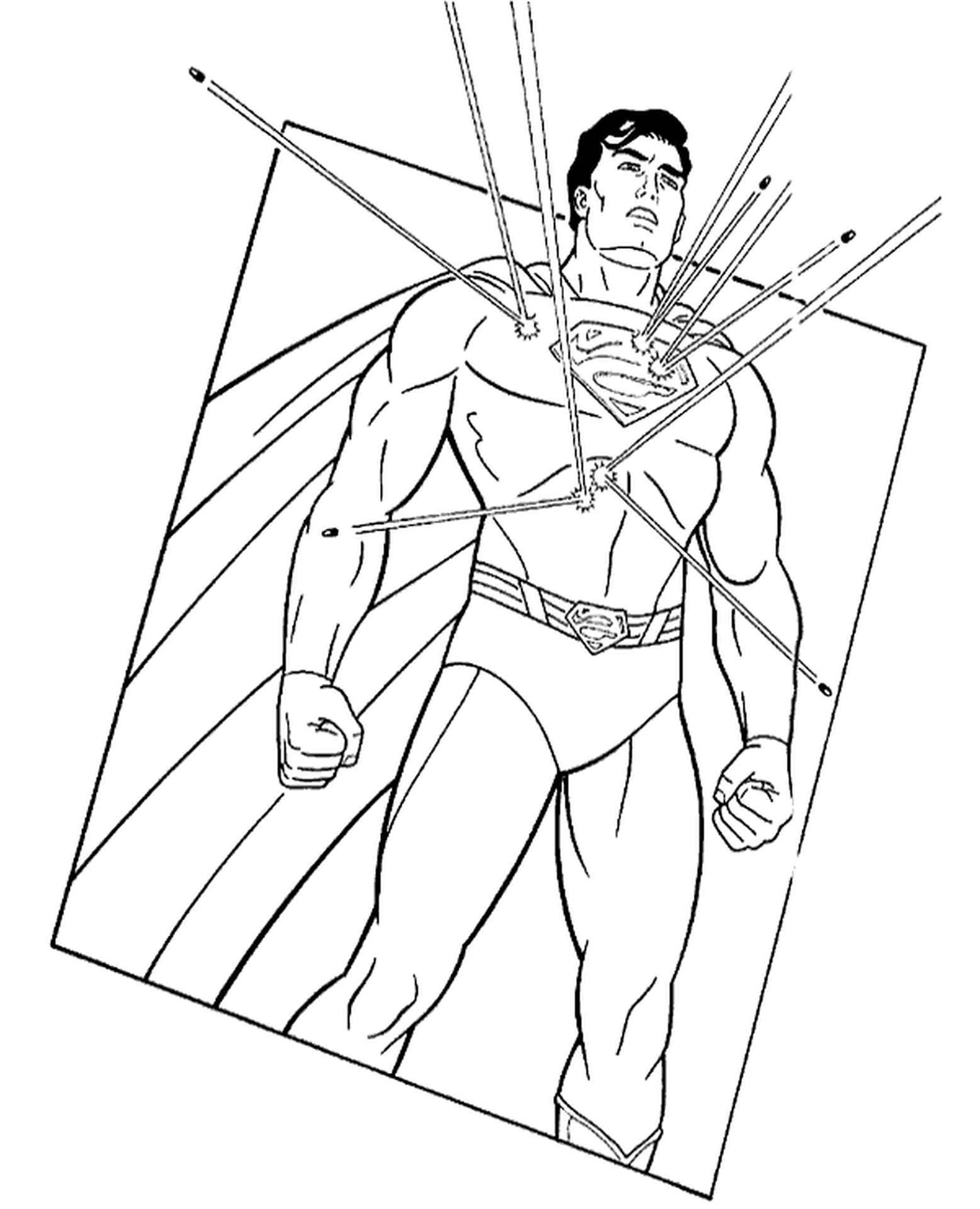 Superman Classic Coloring Sheet