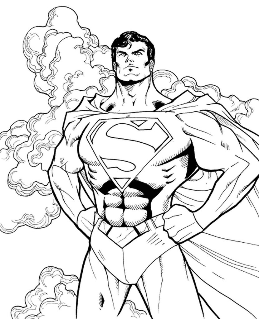 Superman Coloring Books For Boys