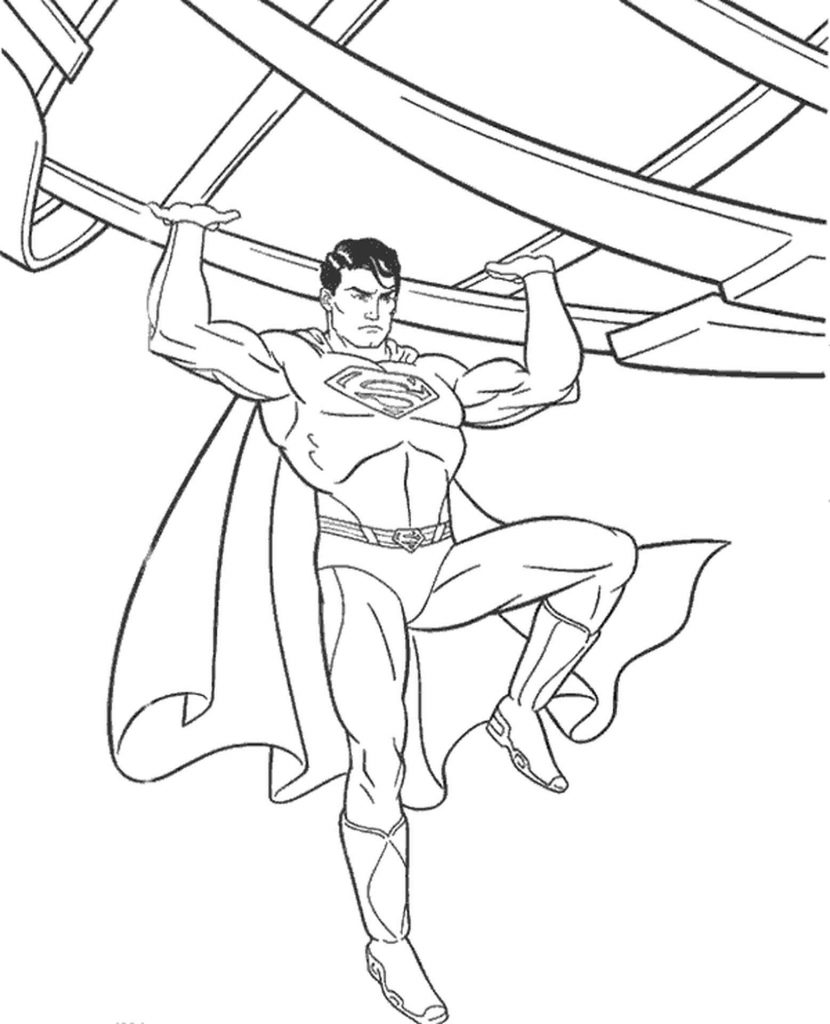 Superman Coloring Page For Boys