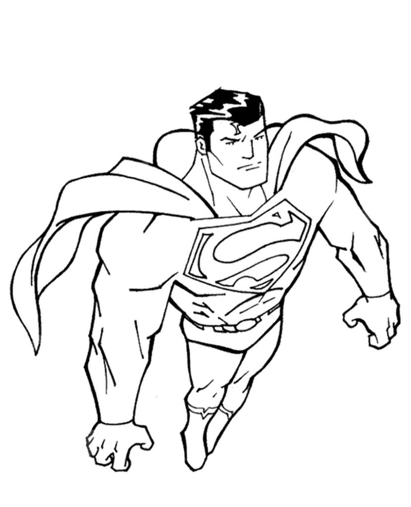 Superman Coloring Picture For Free
