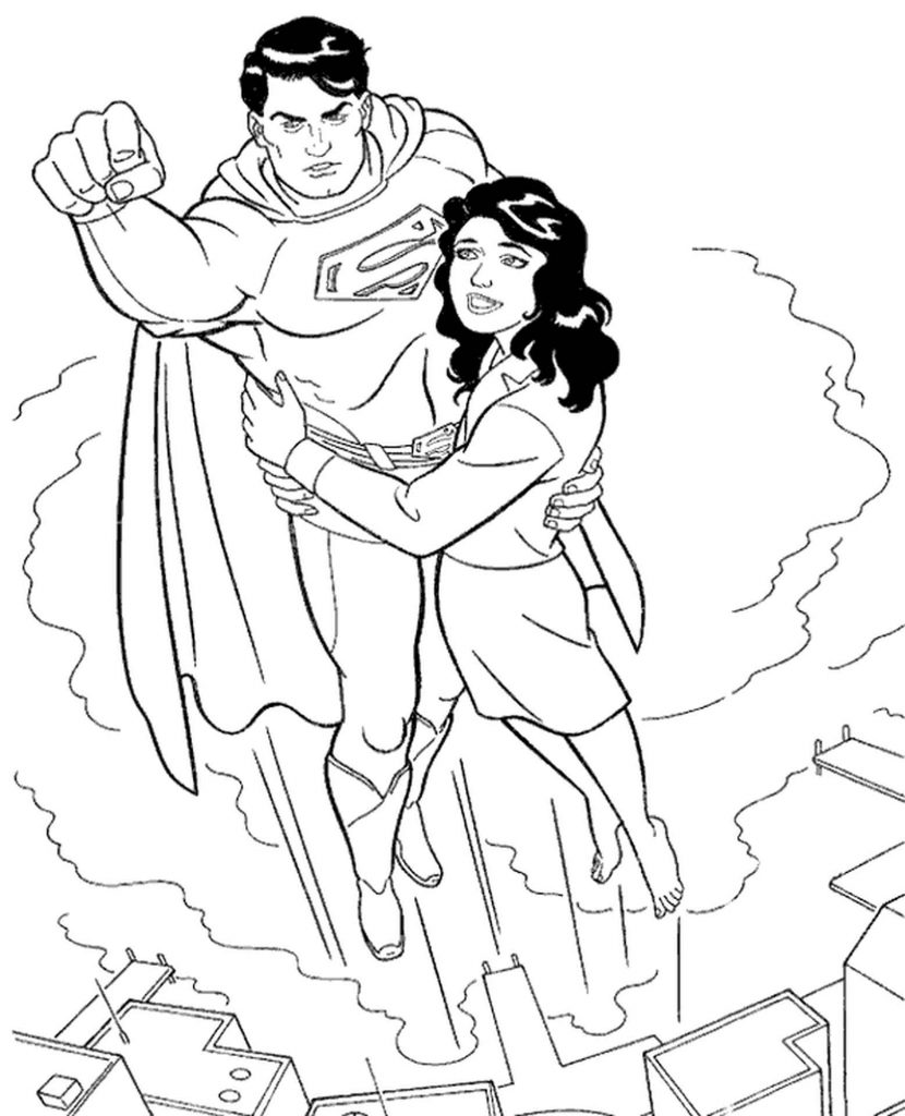 Superman Flying With Lois Lane
