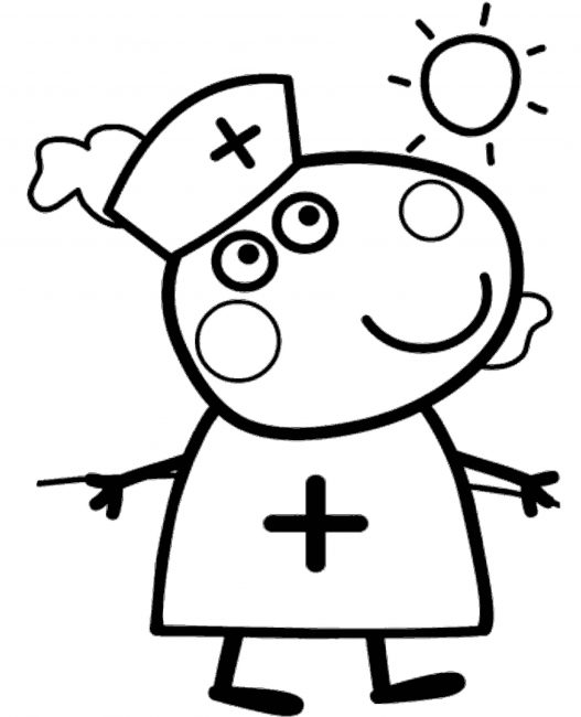 Peppa Pig Free Printable Coloring Pages For Kids