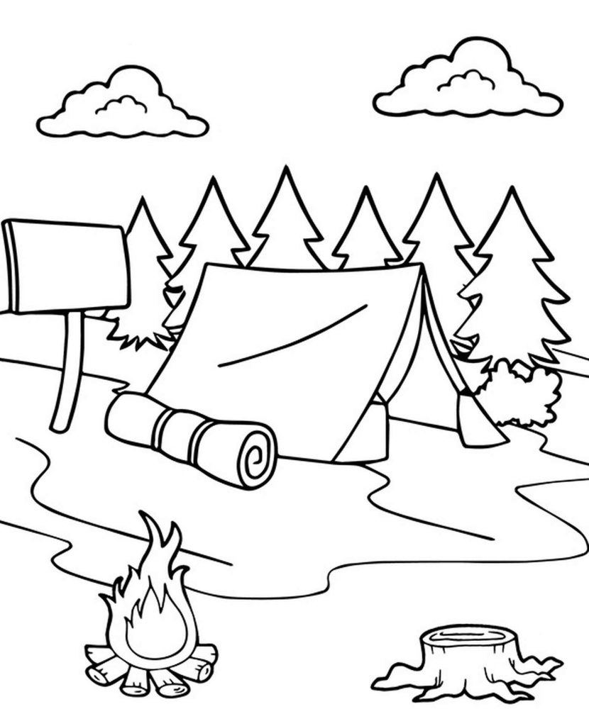 Tent Camp In The Forest