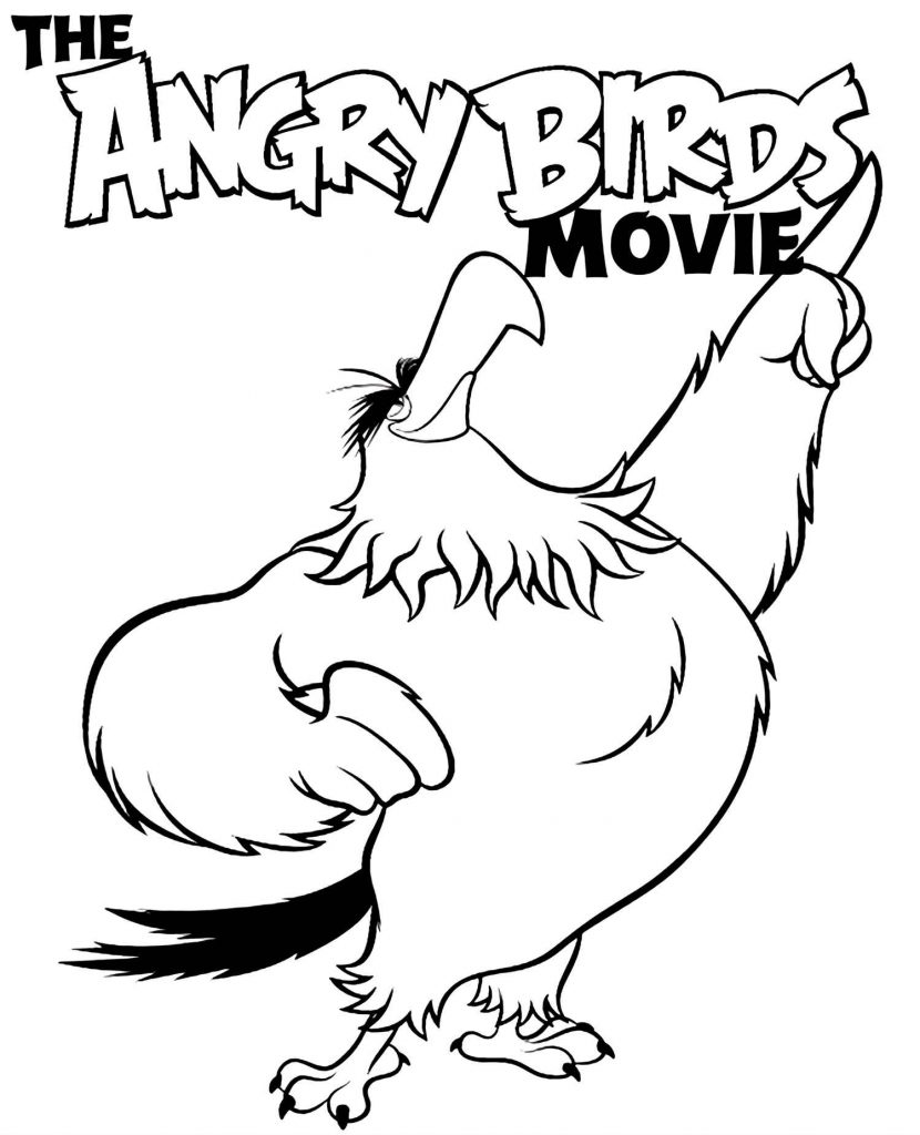 The Confident Mighty Eagle From The Movie Angry Birds Coloring Image