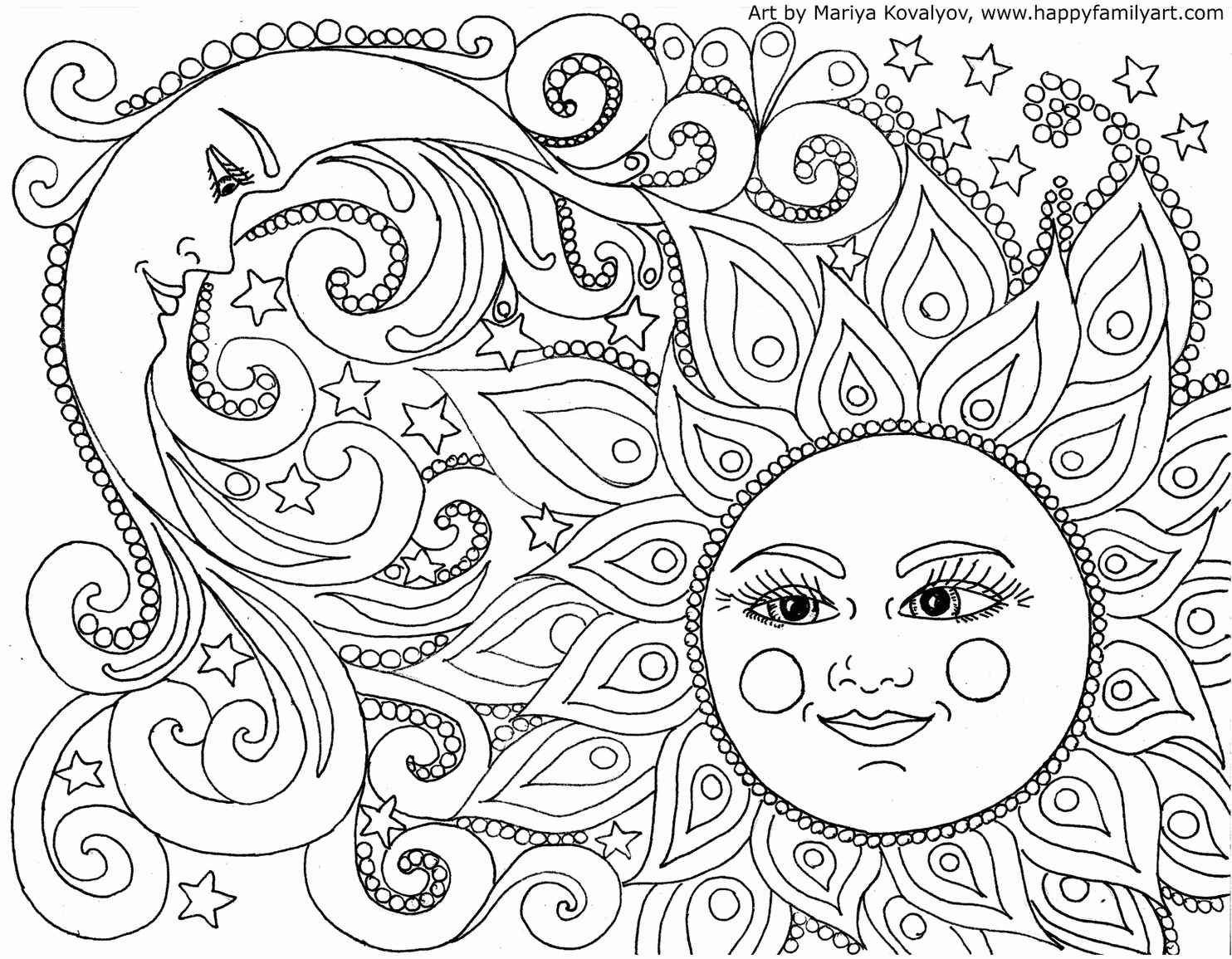The Moon And The Sun Coloring Page
