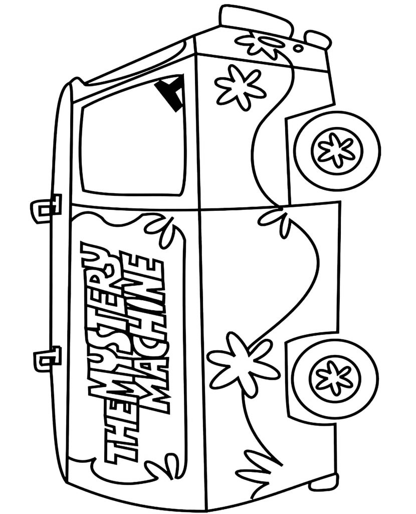 The Mystery Machine Coloring Page