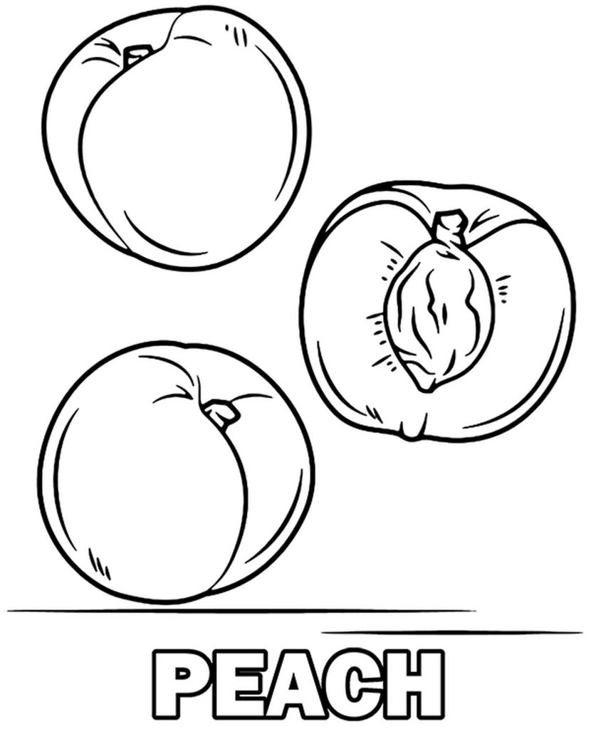 Three Peaches To Color
