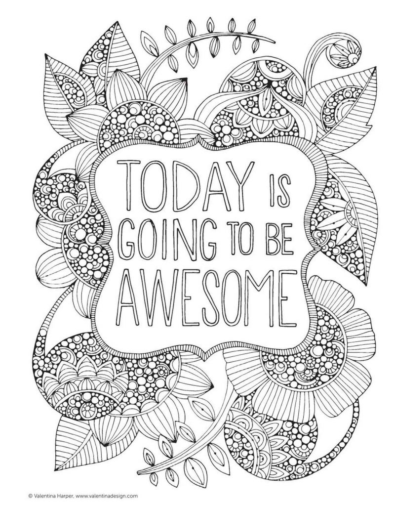 Today I Going To Be Awesome Coloring Page