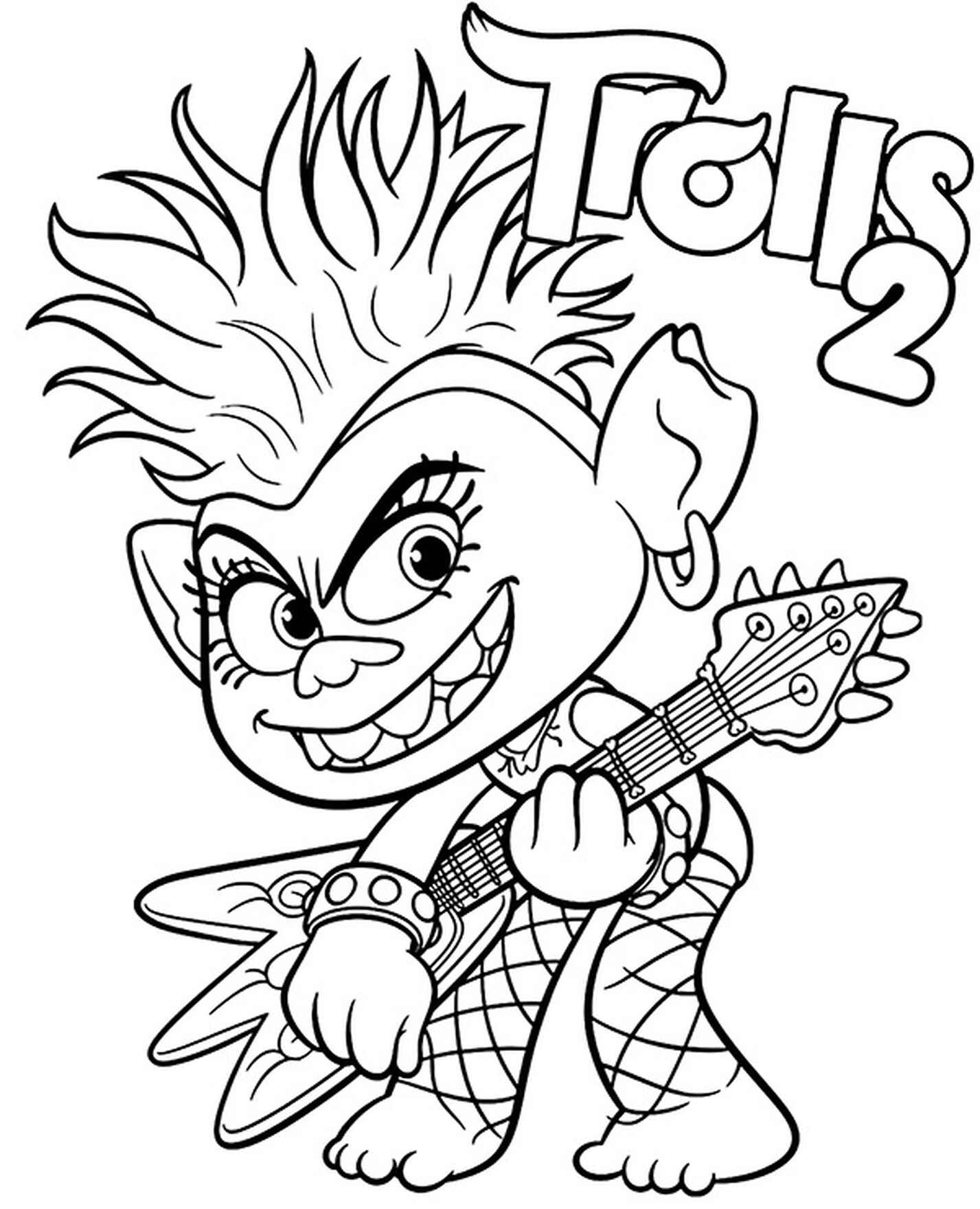 Trolls Coloring Page Barb
