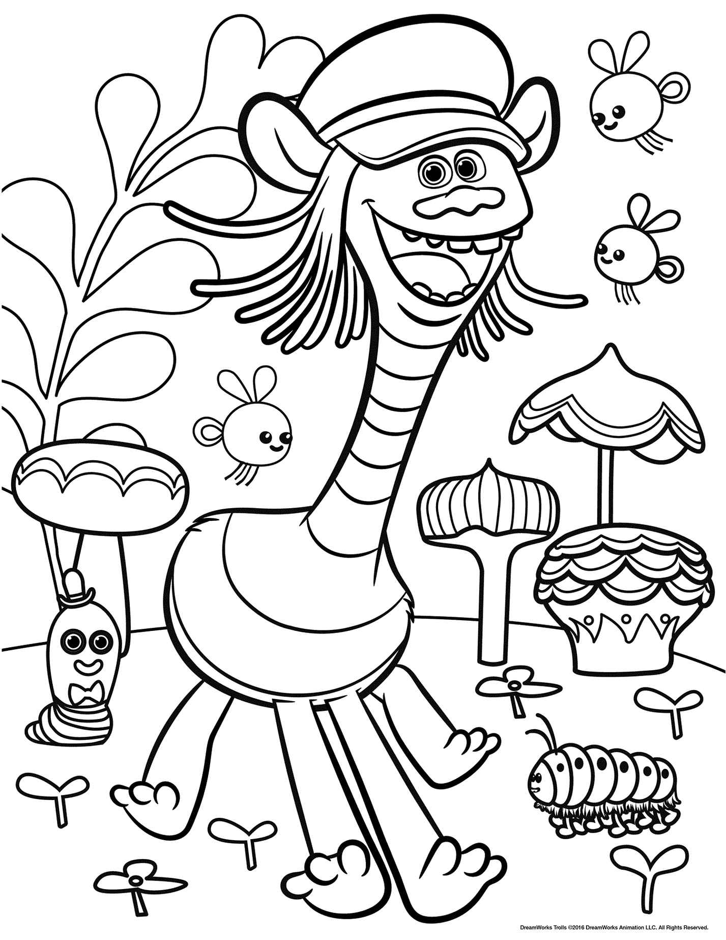 Trolls Coloring Pages Dreamworks