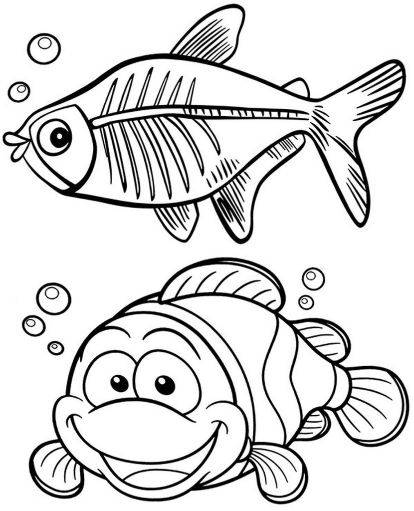 Two Fish To Color