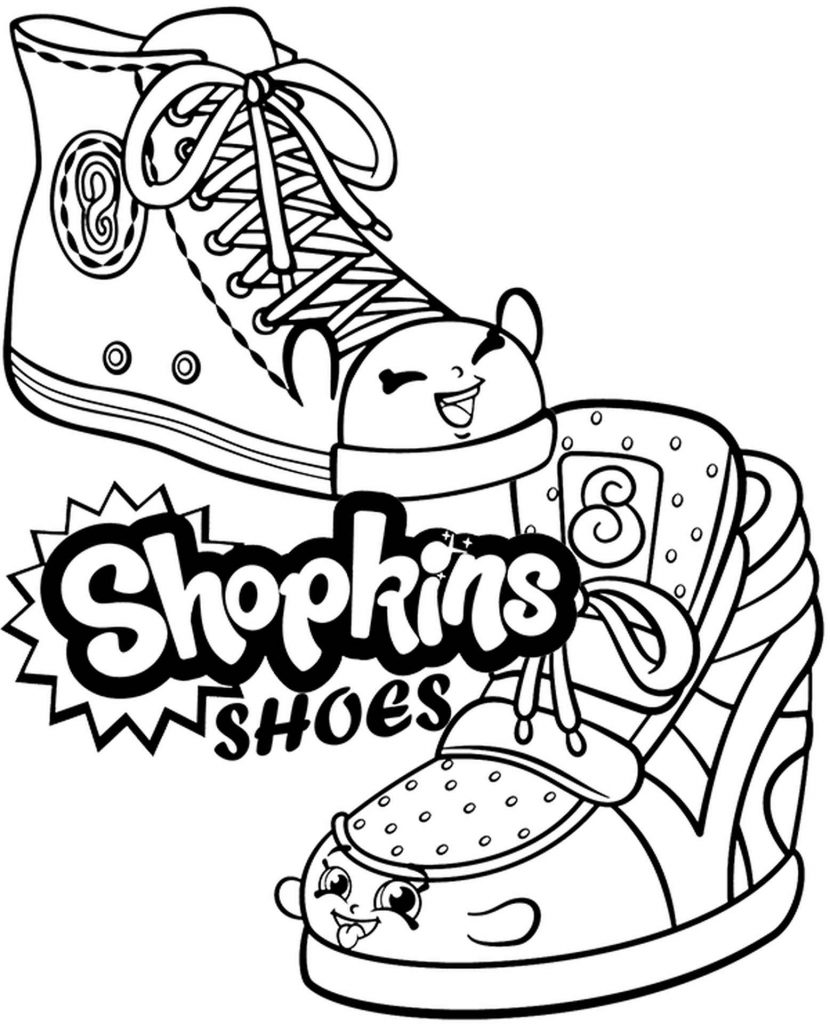 Two Shoes Shopkins Coloring Page