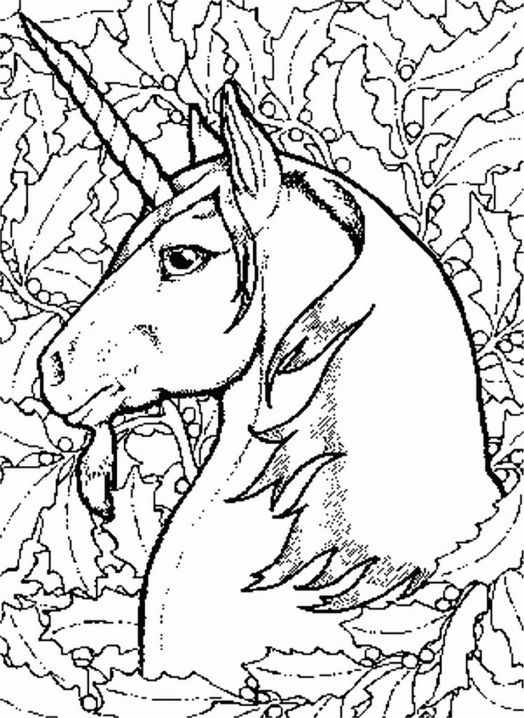 Unicorn Coloring Sheet