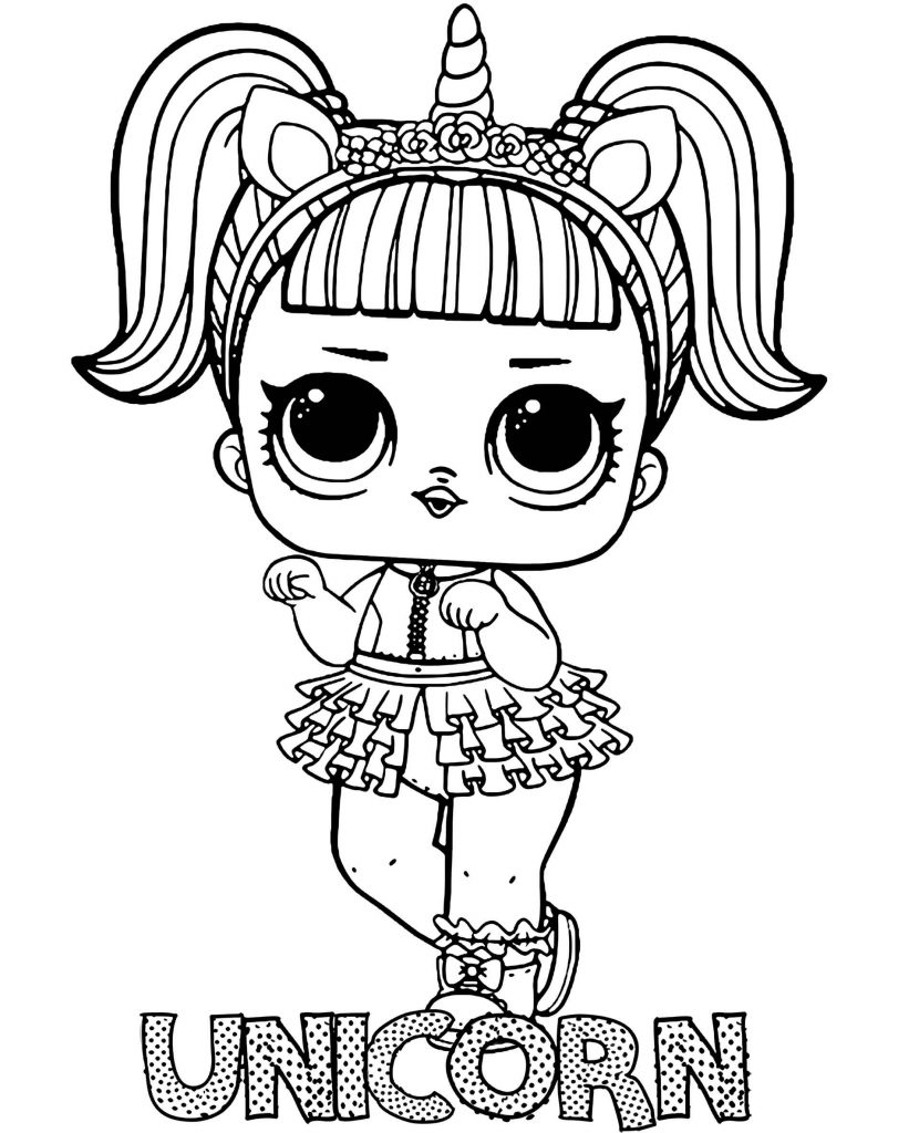 Unicorn Doll From L.O.L. Suprise Coloring Pages
