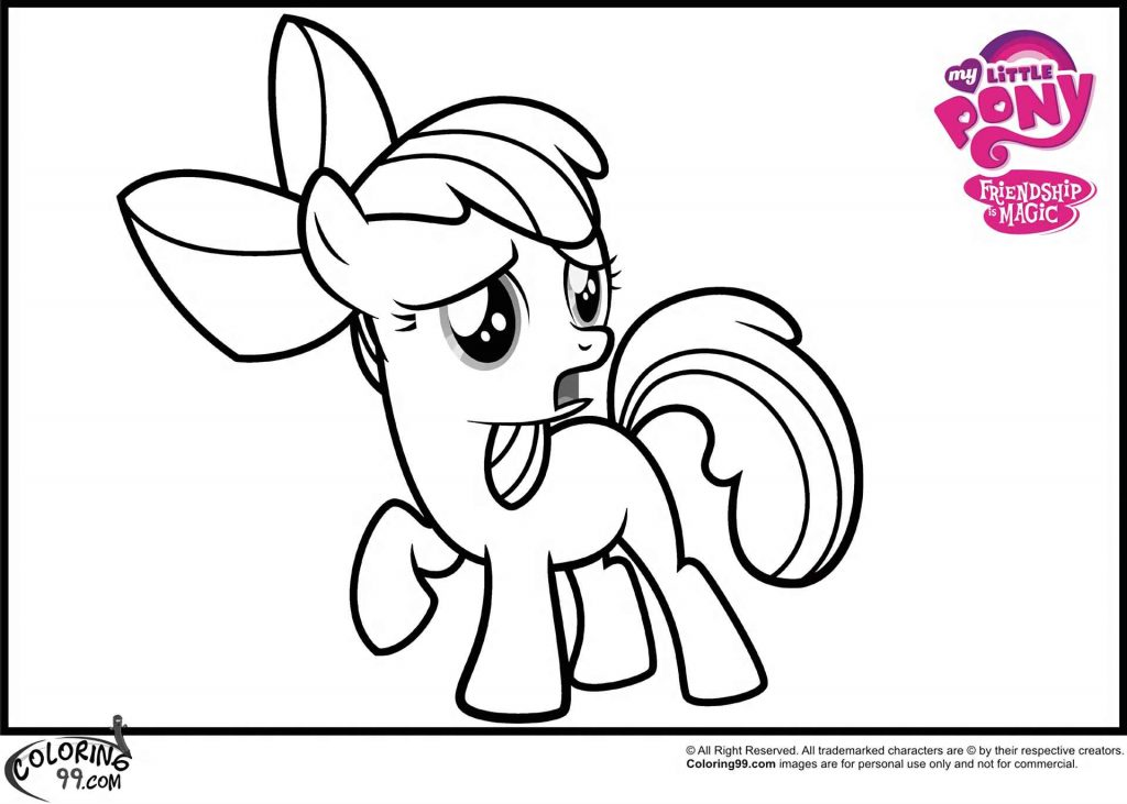 Upset Pony Apple Bloom Coloring Page
