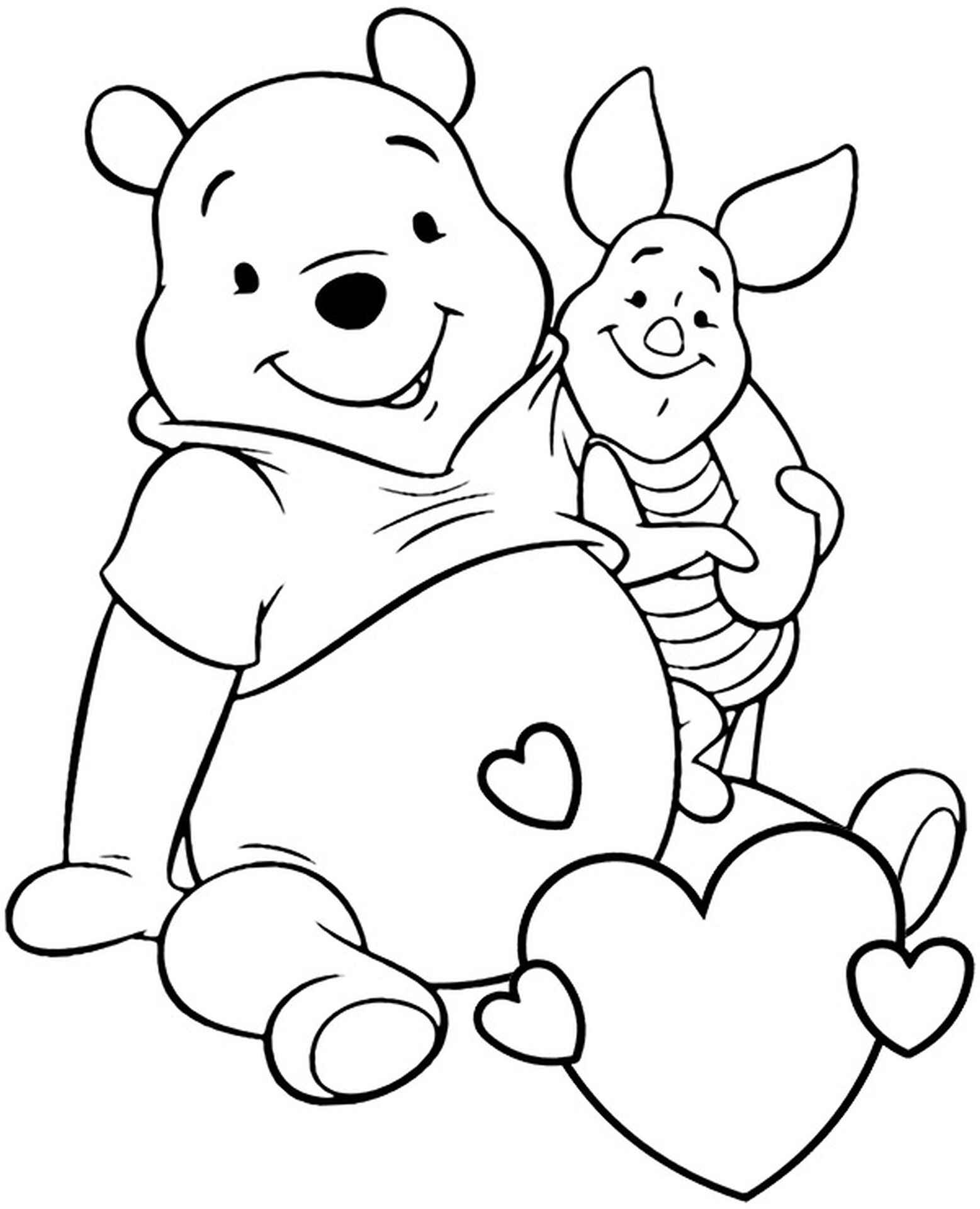 Valentines Card With Pooh