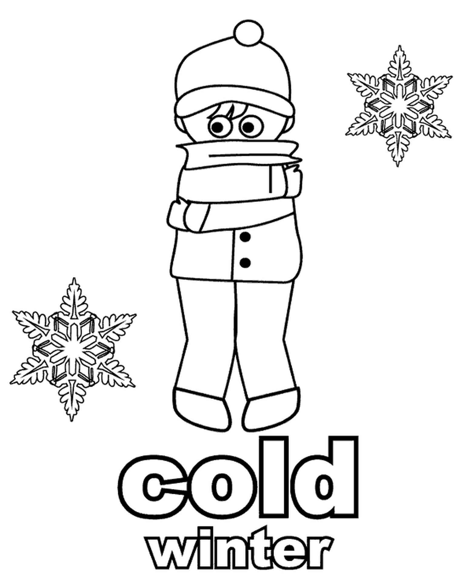 Very Cold Winter Coloring Page