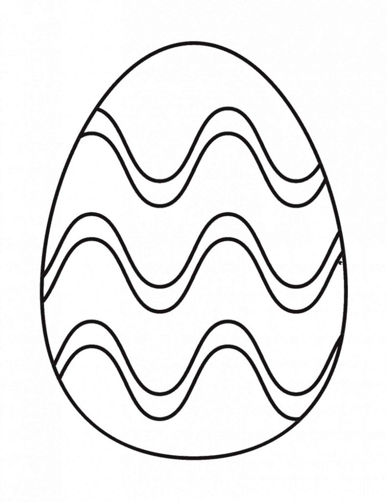 Very Easy Coloring Page Of An Easter Egg
