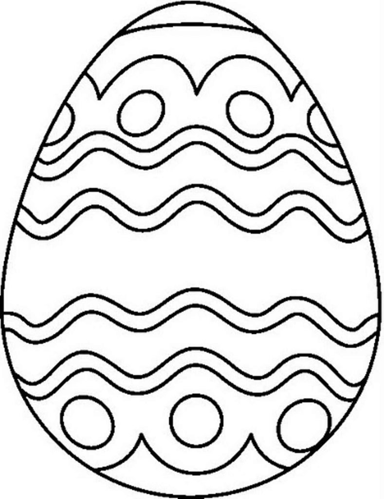 Victorian Easter Egg To Color
