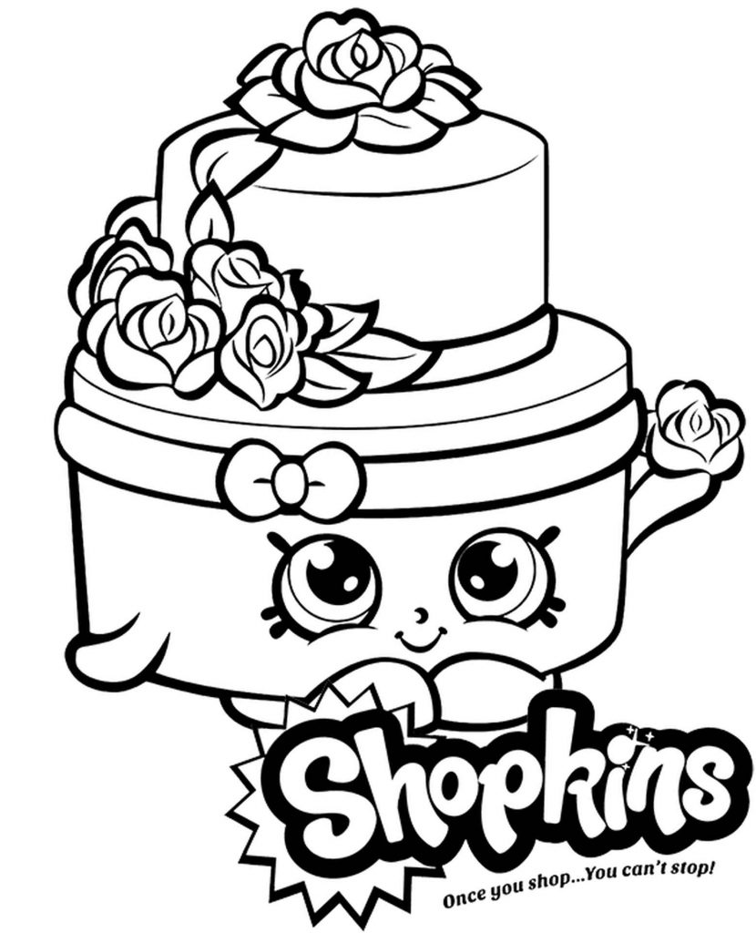 Wedding Cake Shopkins Coloring Page