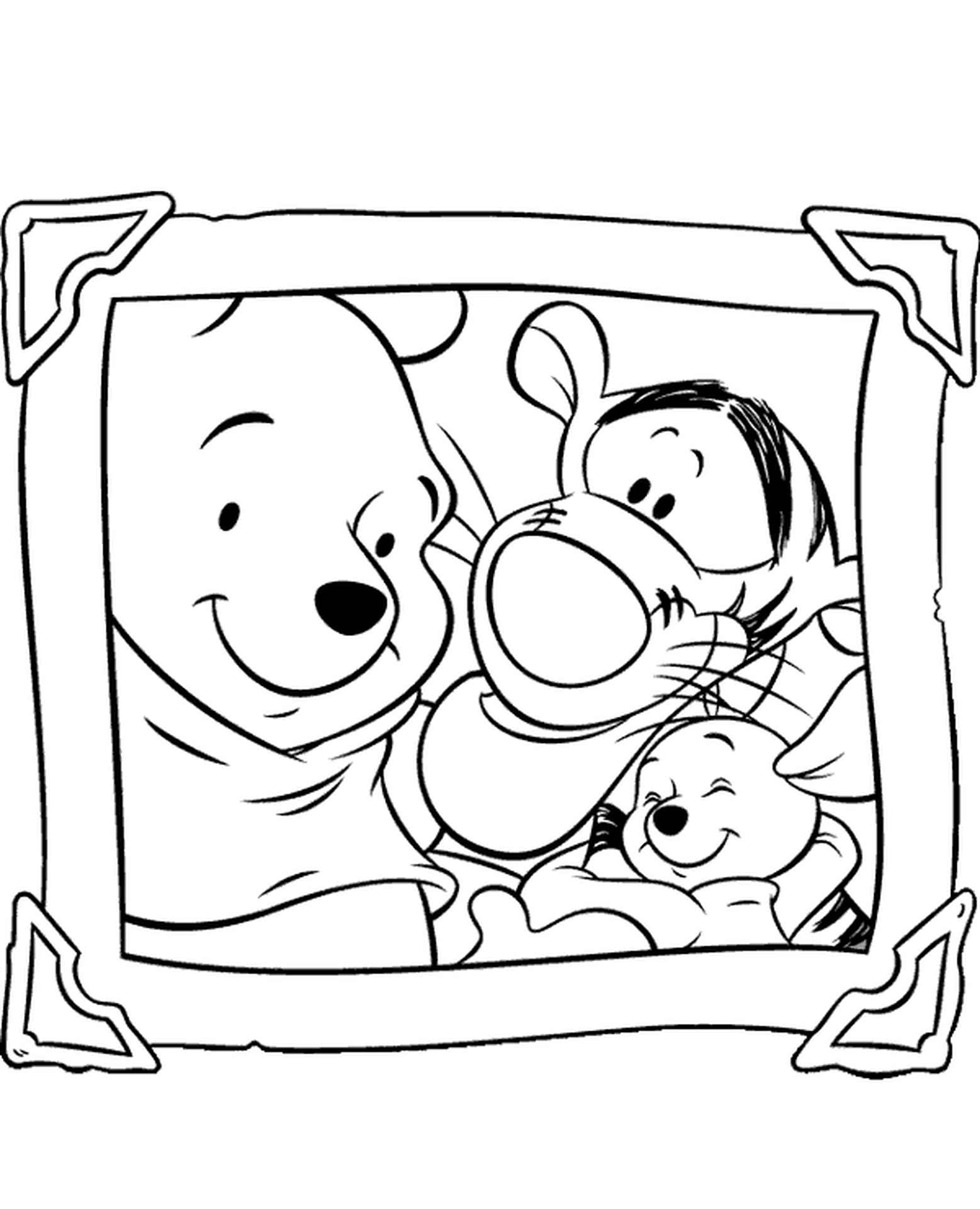 Winnie And Tigger Coloring Page