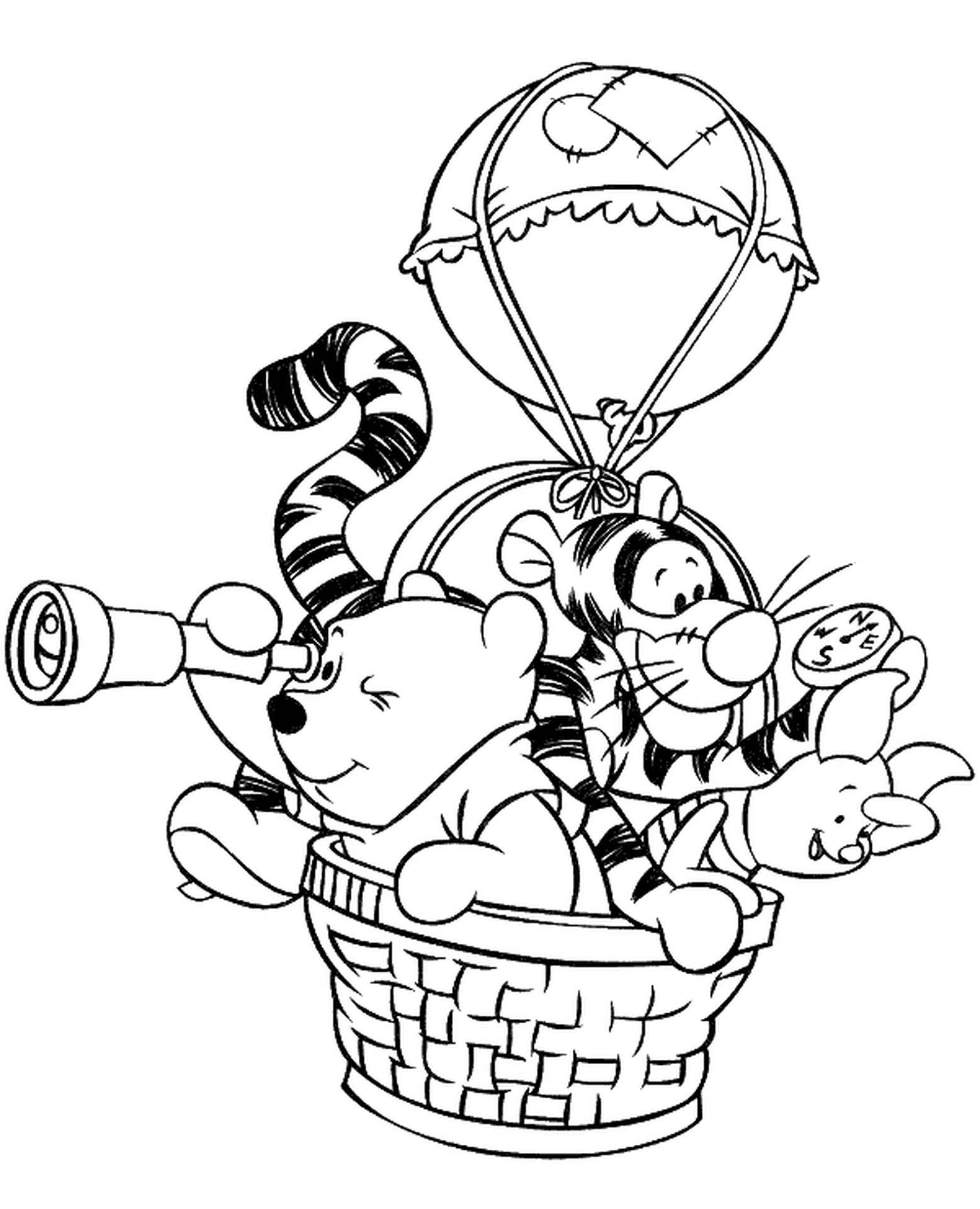 Winnie Pooh, Tigger And Piglet Coloring Book