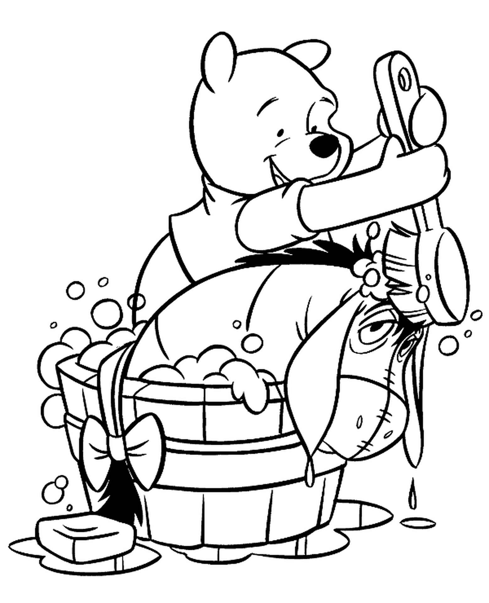 Winnie The Pooh And Eeyore Coloring Sheet