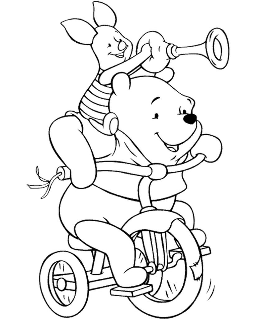 Winnie The Pooh Coloring Page With Piglet