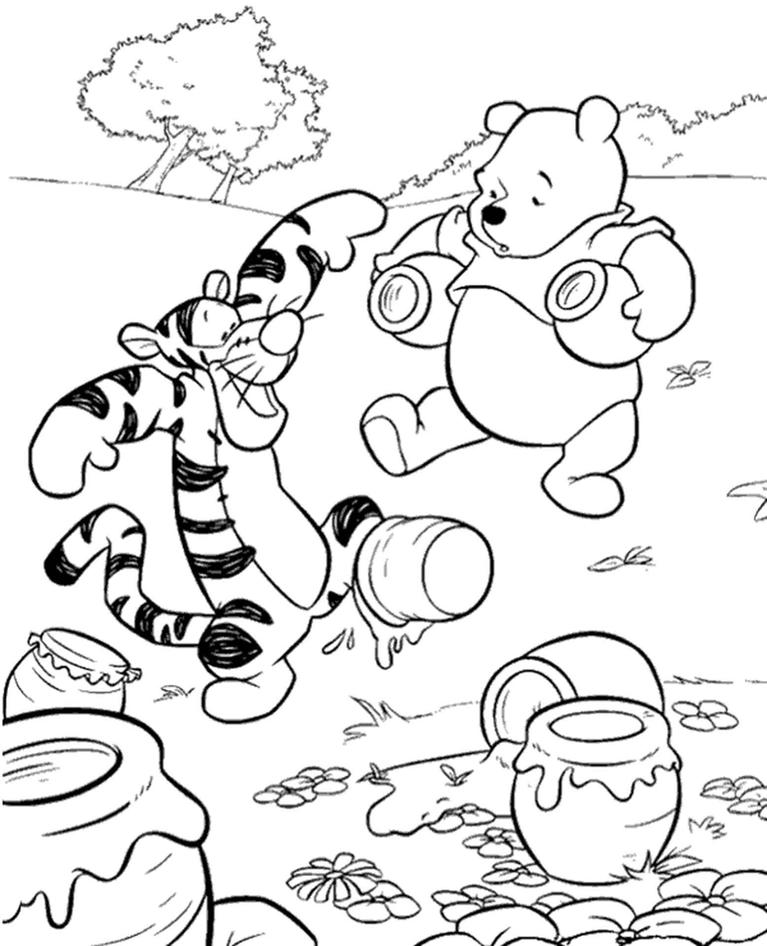 Winnie The Pooh Picture To Print For Kids